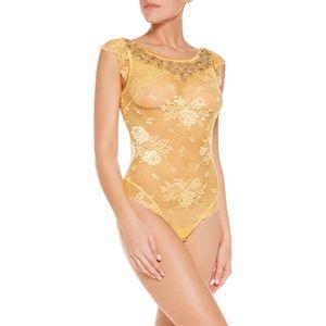 NWT La Perla Maharani Embellished Lace Bodysuit S